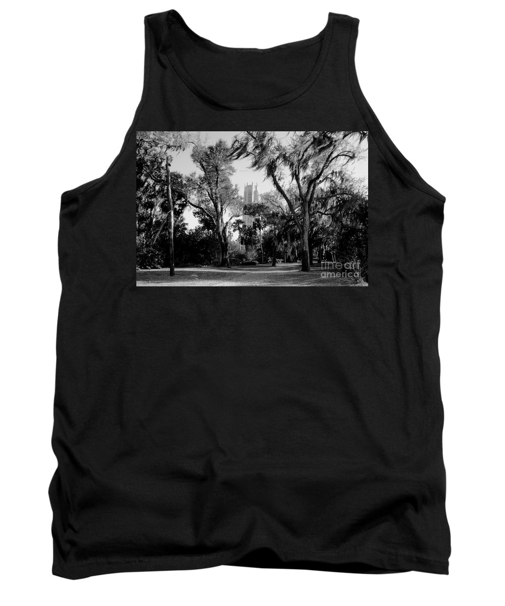 Bok Tower Tank Top featuring the photograph Ghostly Bok Tower by David Lee Thompson