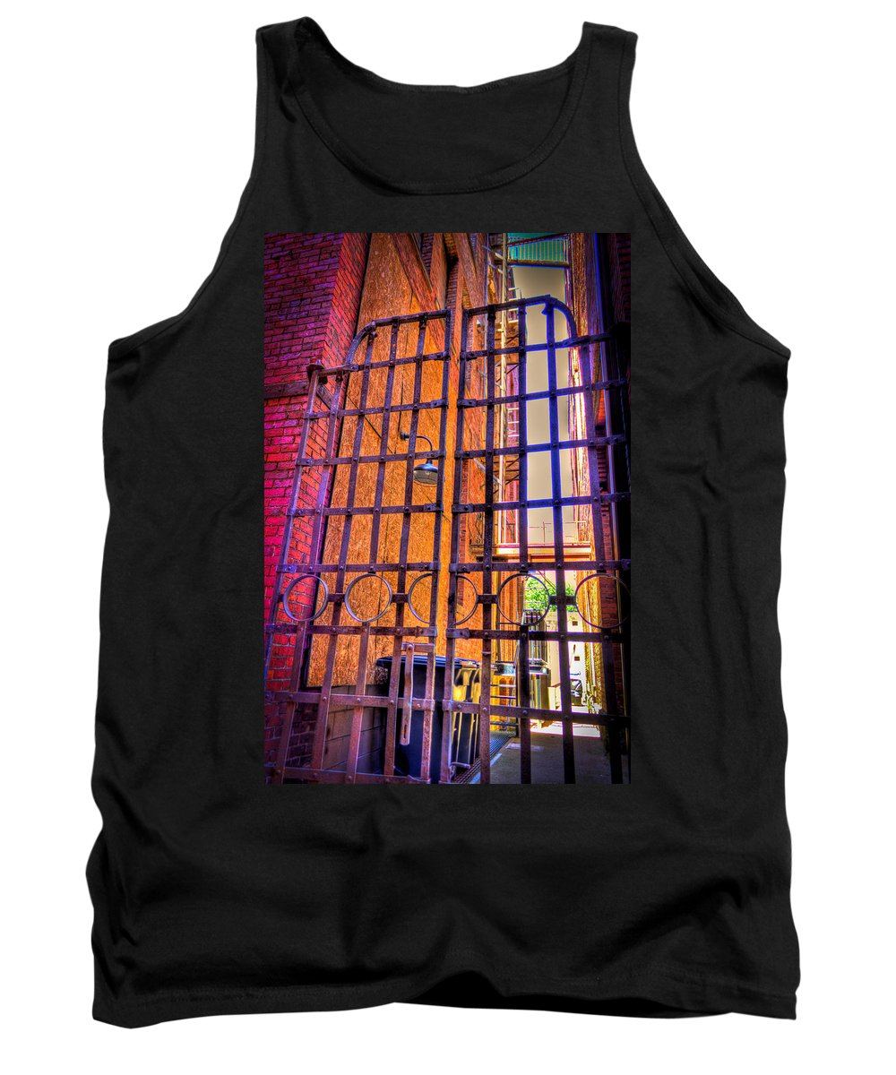 Marietta Tank Top featuring the photograph Giant Gate by Jonny D
