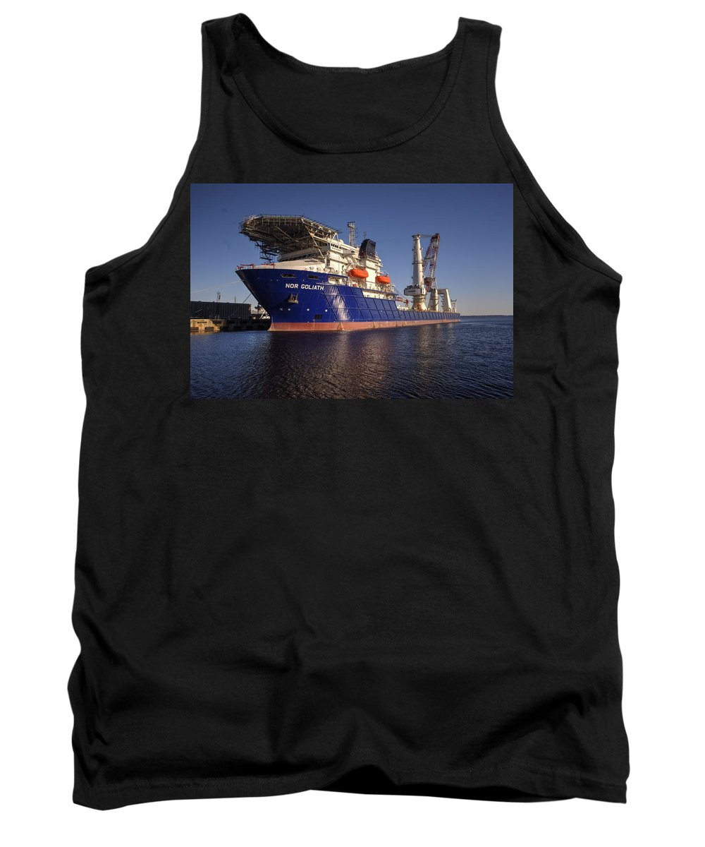Ship's Tank Top featuring the photograph Giant Ship's by Paul Lindner