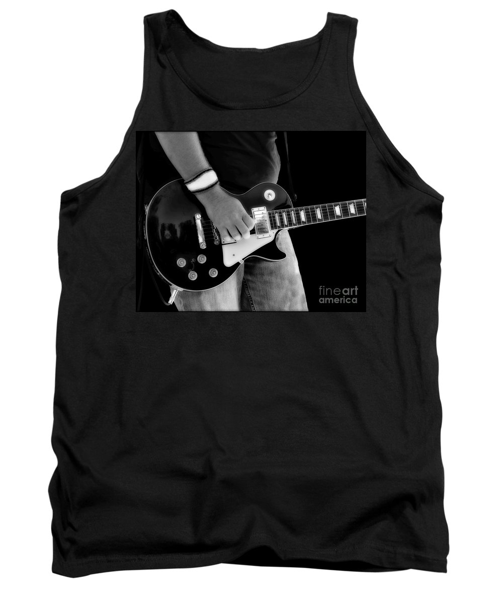Gibson Tank Top featuring the photograph Gibson Les Paul Guitar by Randy Steele