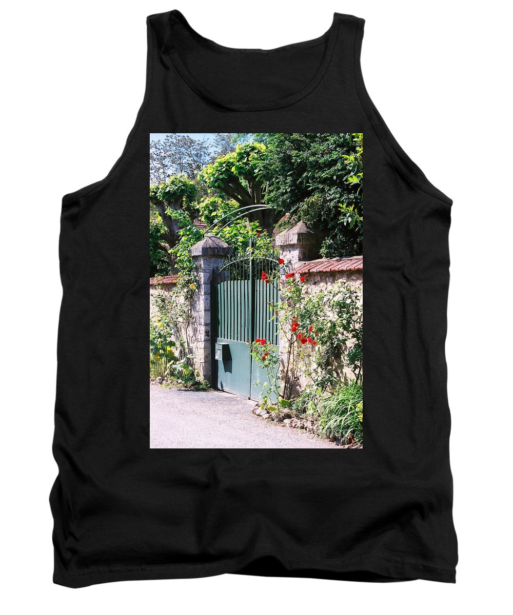 Giverny Tank Top featuring the photograph Giverny Gate by Nadine Rippelmeyer