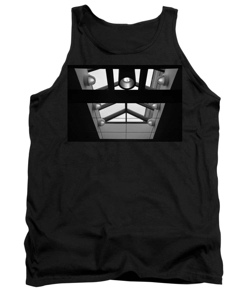 Black And White Tank Top featuring the photograph Glass Sky Lights by Rob Hans