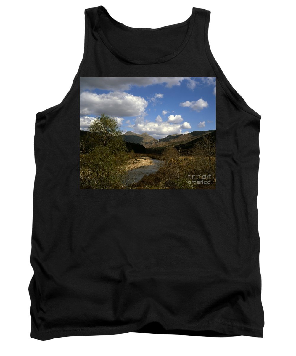 Argyll Tank Top featuring the photograph Glen Strontian And The River Strontian Sunart Western Highlands Scotland by Michael Walters