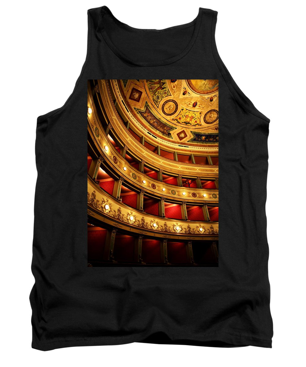 Theatre Tank Top featuring the photograph Glorious Old Theatre by Marilyn Hunt