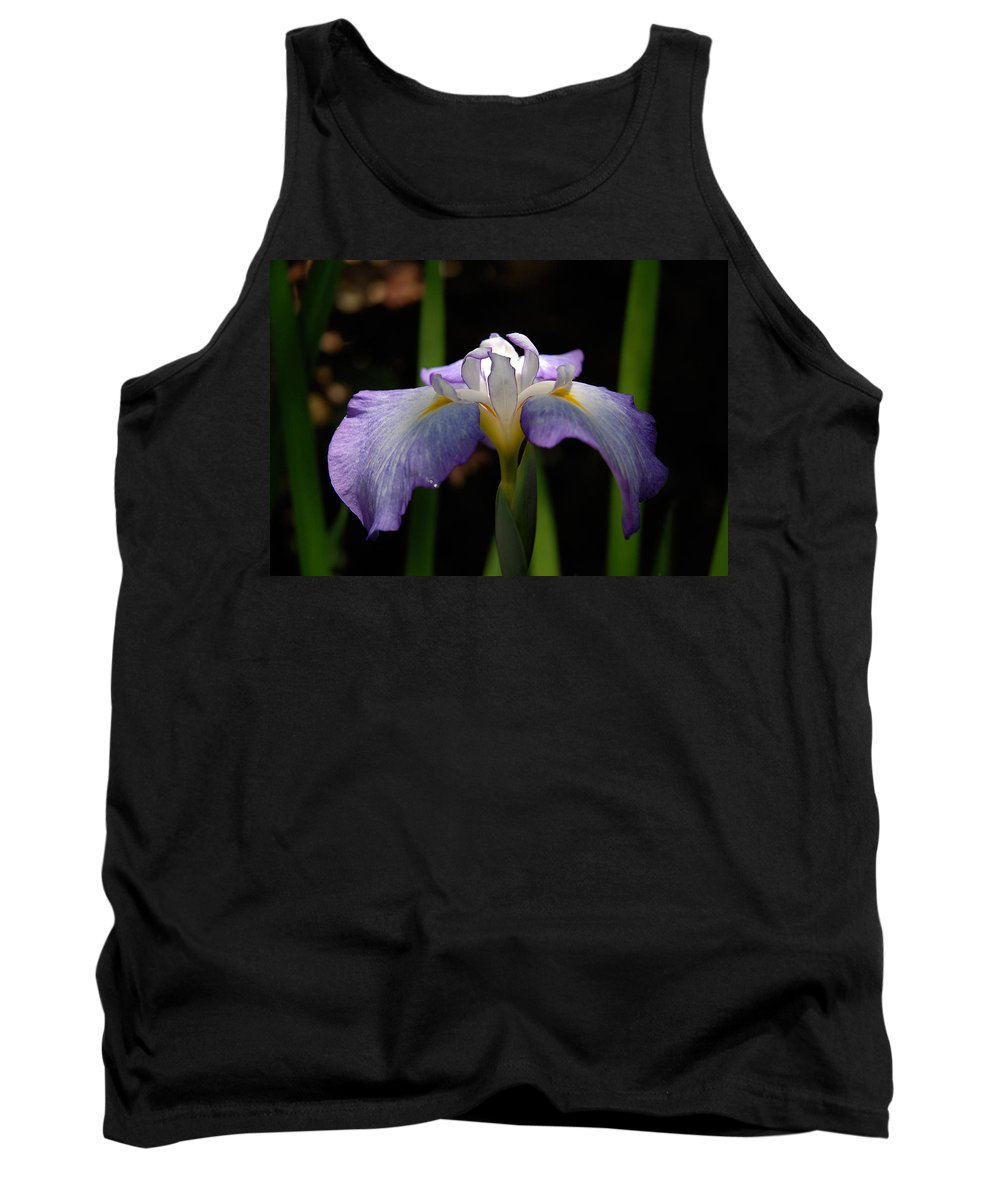 Iris Tank Top featuring the photograph Glowing Iris by Marie Hicks