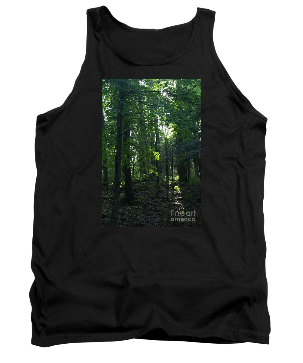 Woods Tank Top featuring the photograph Go Into Your Dream by Linda Shafer