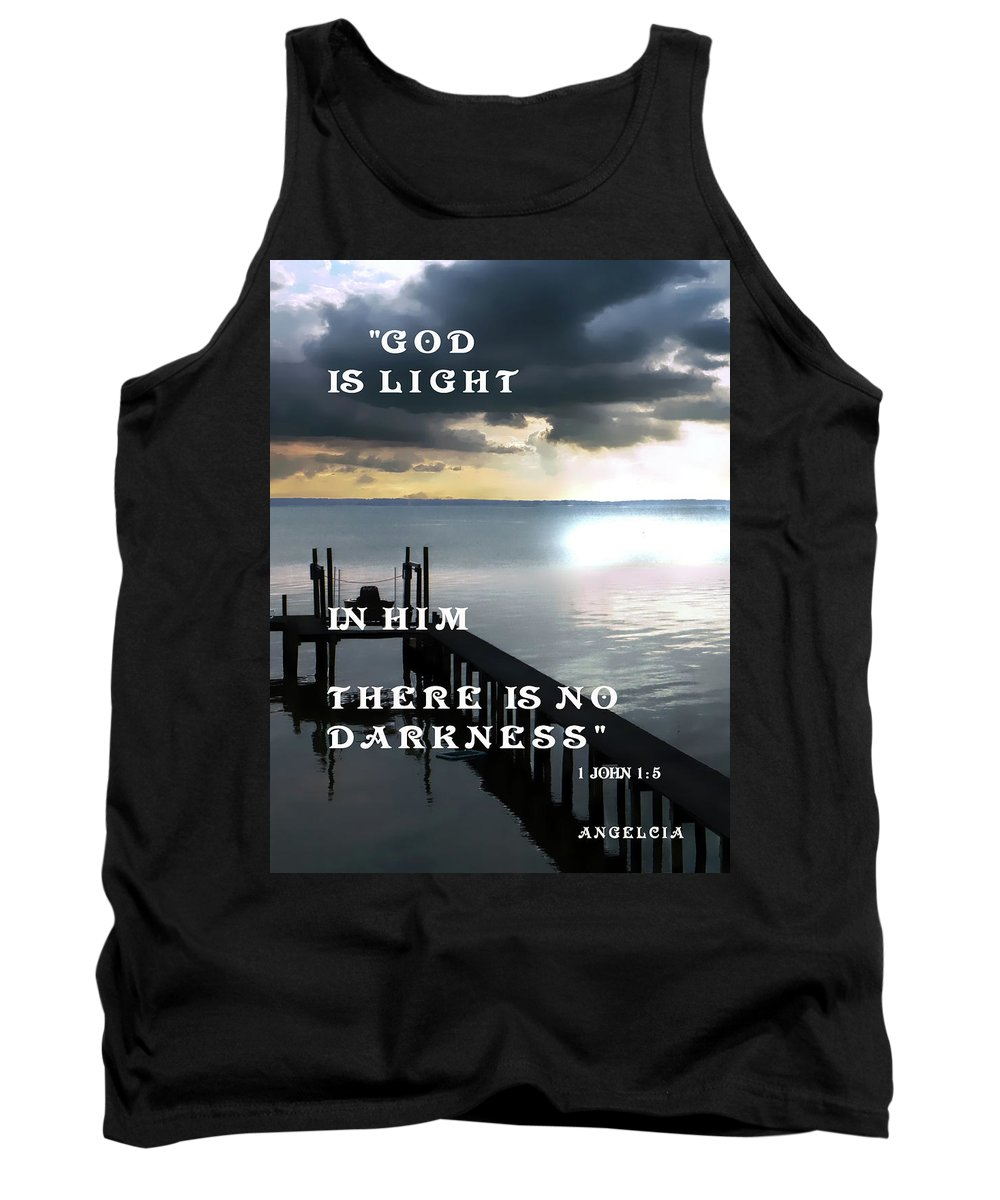 God Tank Top featuring the photograph God Is Light by Angelcia Wright