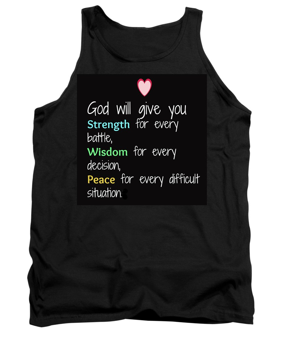Tank Top featuring the painting God Will Give You Strength T-shirt by Herb Strobino