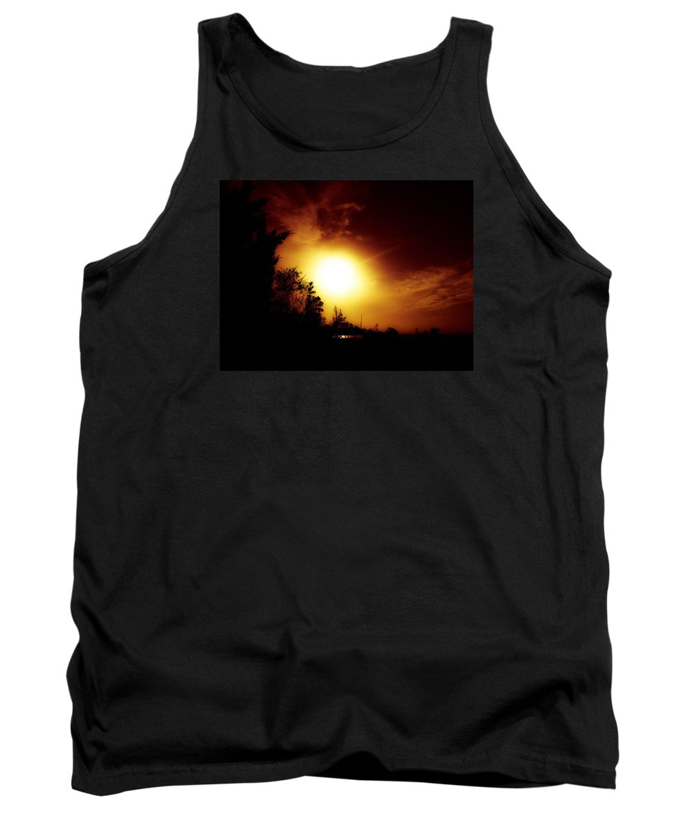 Sun Tank Top featuring the photograph God's Creations.. by Lewis Gilbert