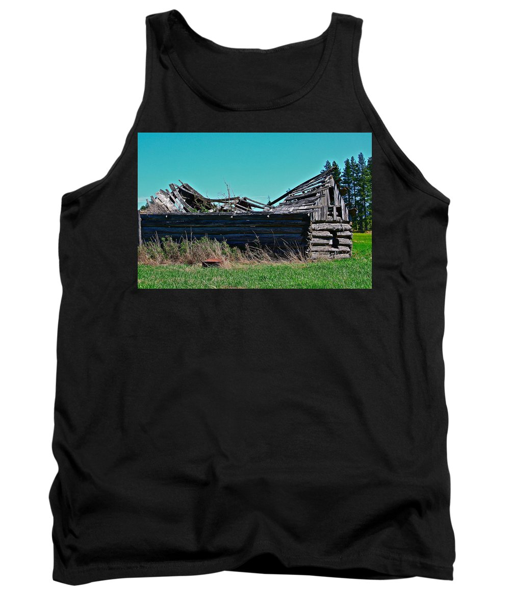Log Cabin Tank Top featuring the photograph Going Green by Diana Hatcher