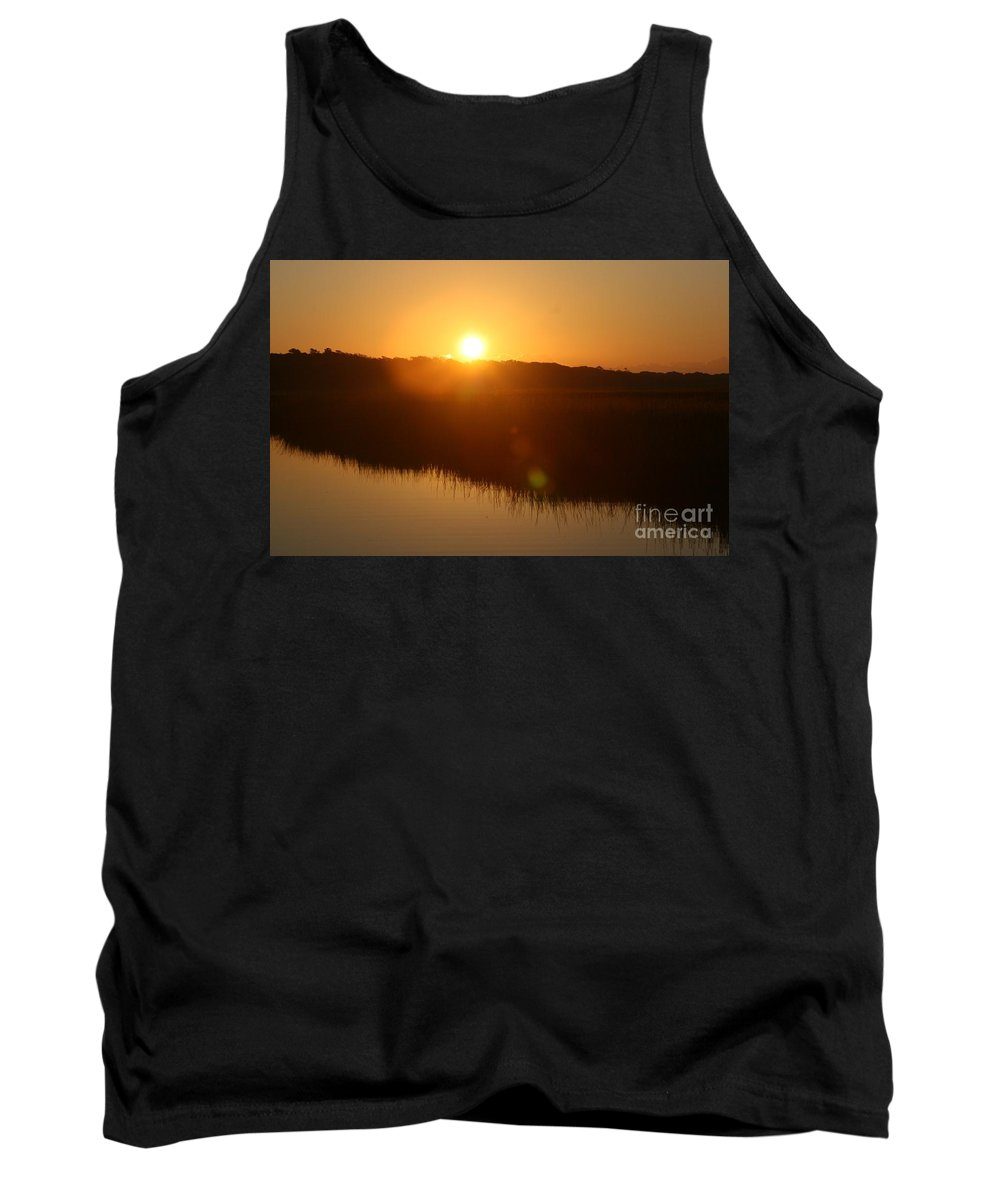 Glow Tank Top featuring the photograph Gold Morning by Nadine Rippelmeyer