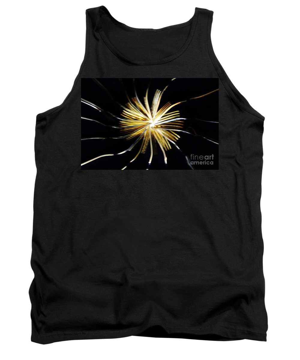 Still Life Tank Top featuring the photograph Golden Forks 1 by Don Baker