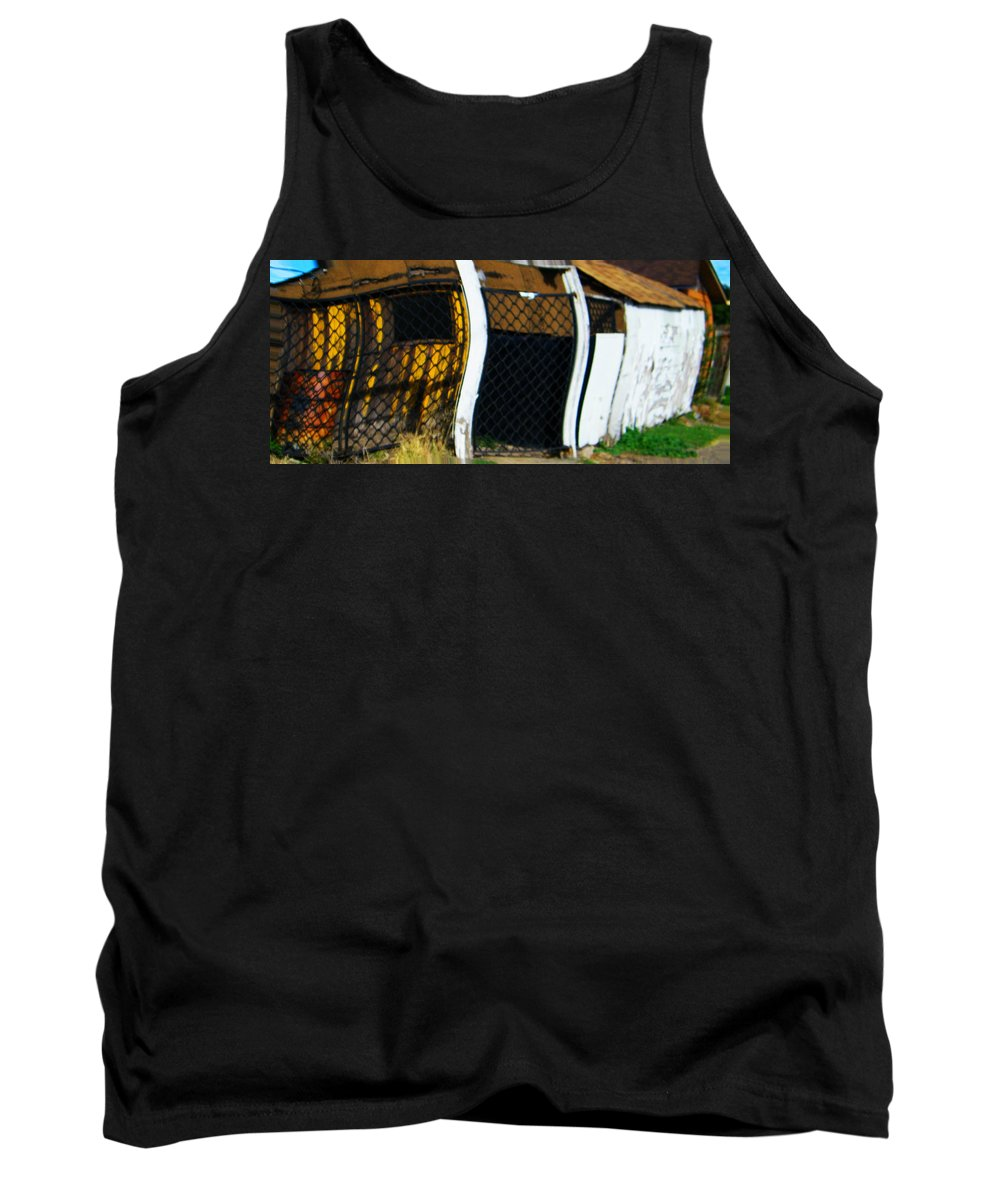 Abstract Tank Top featuring the digital art Golden Shed by Lenore Senior
