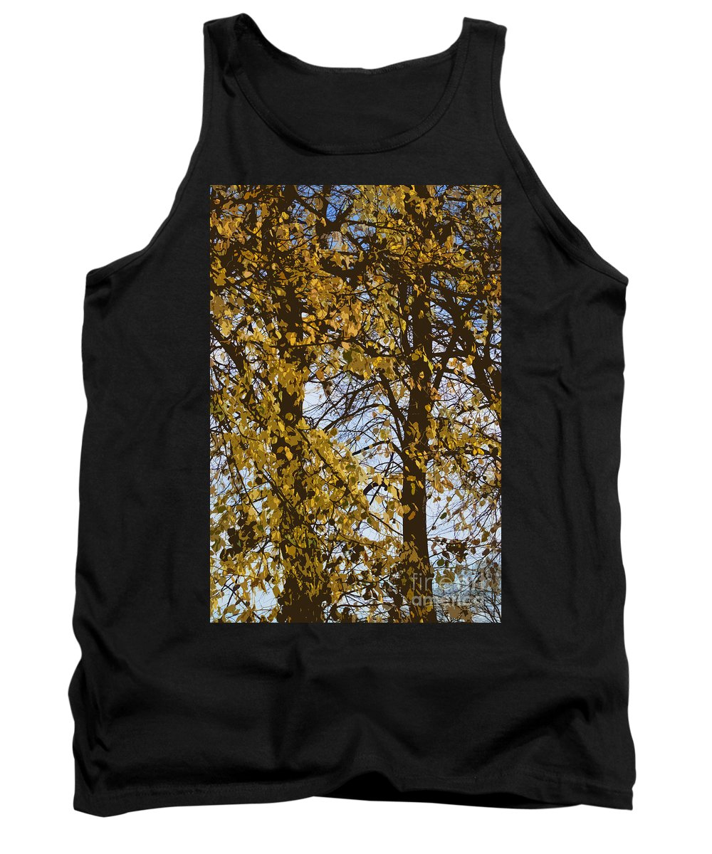 Autumn Tank Top featuring the photograph Golden Tree 2 by Carol Lynch