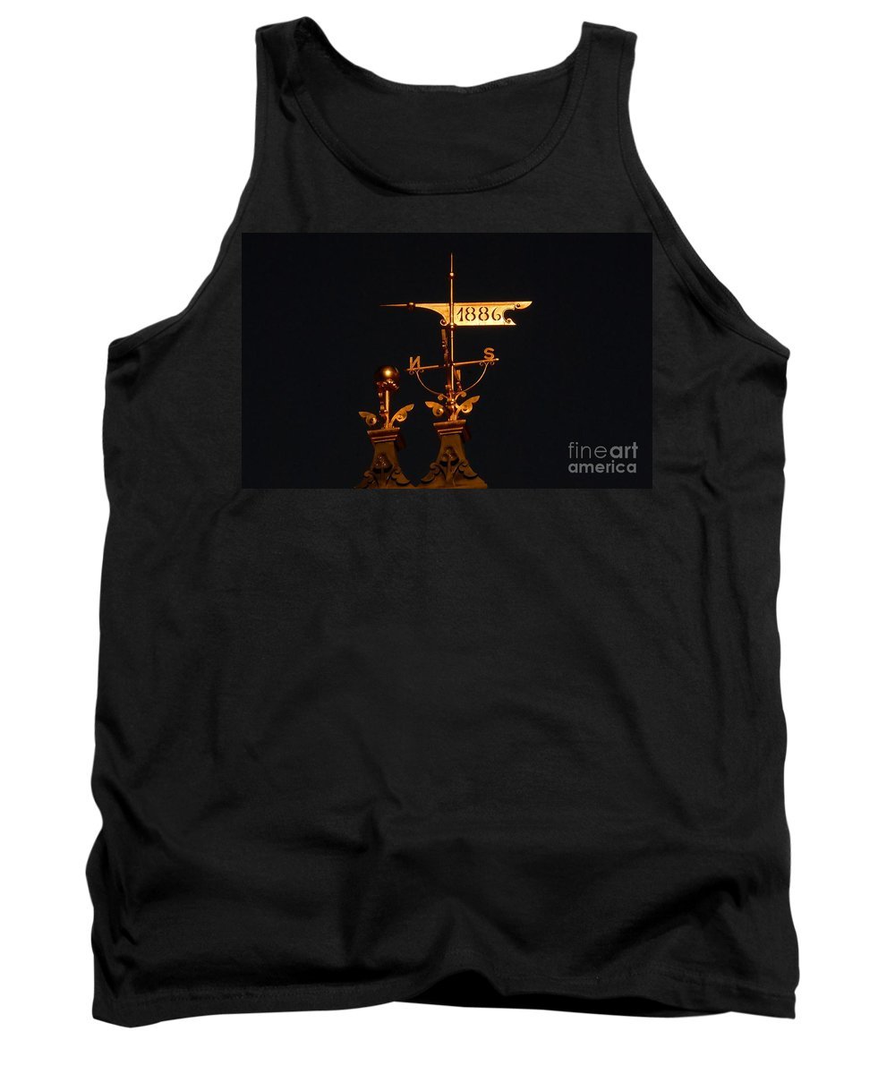 Wind Vain Tank Top featuring the photograph Golden Wind Vain by David Lee Thompson