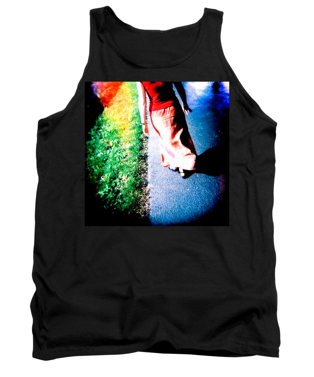 Color Photograph Holga Tank Top featuring the photograph Gone by Olivier De Rycke