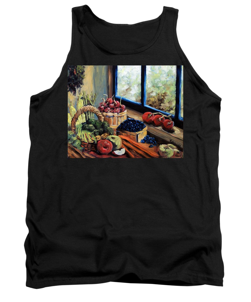 Art; Painting Tank Top featuring the painting Good Harvest by Richard T Pranke