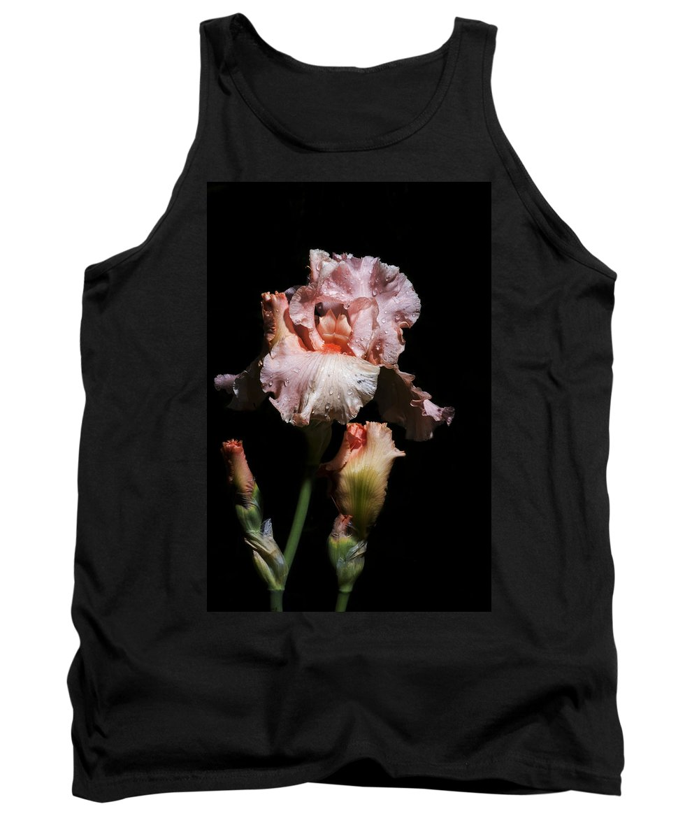 Agriculture Tank Top featuring the photograph Goodnight Kiss Iris by John Trax