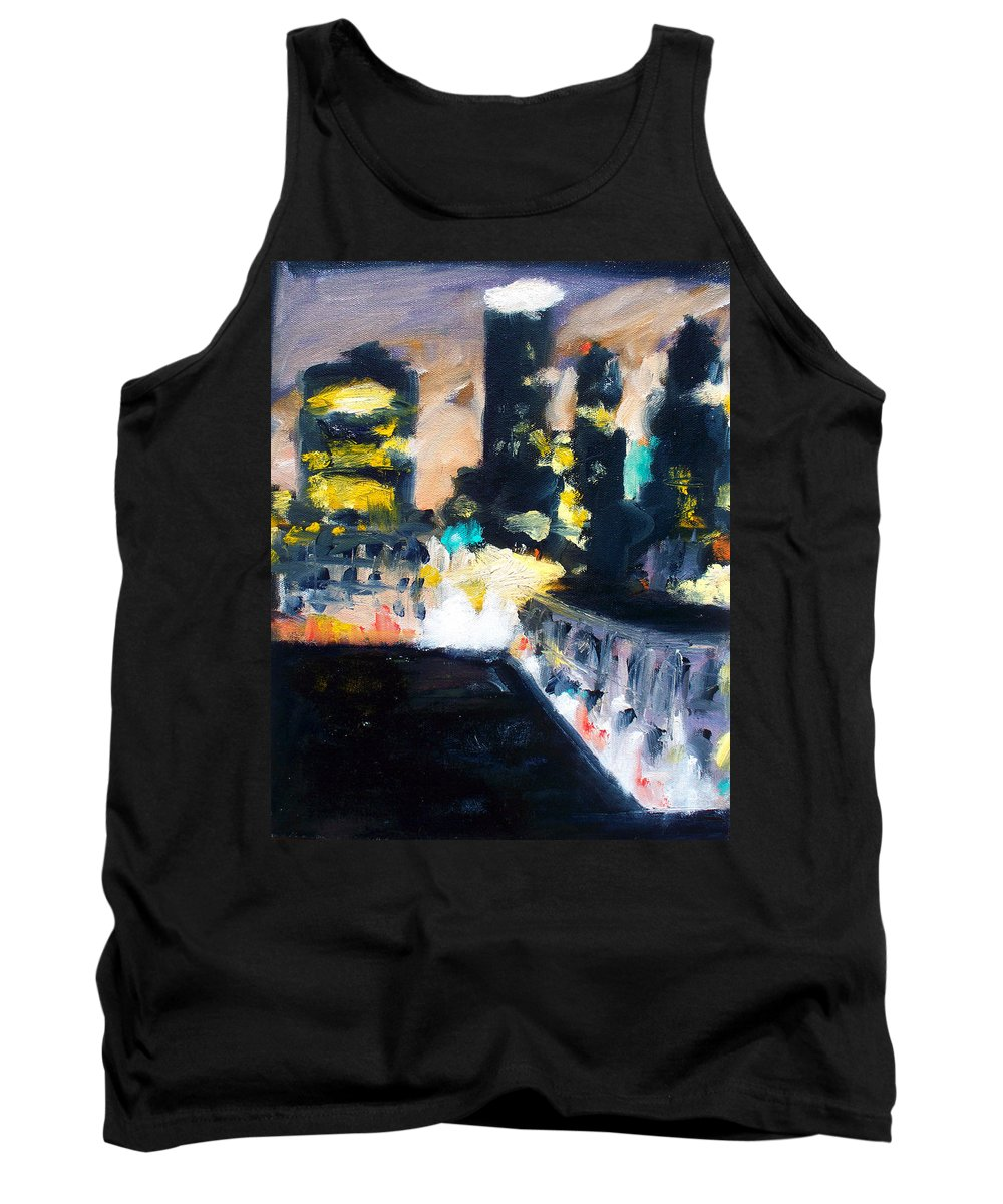 Des Moines Tank Top featuring the painting Gotham by Robert Reeves