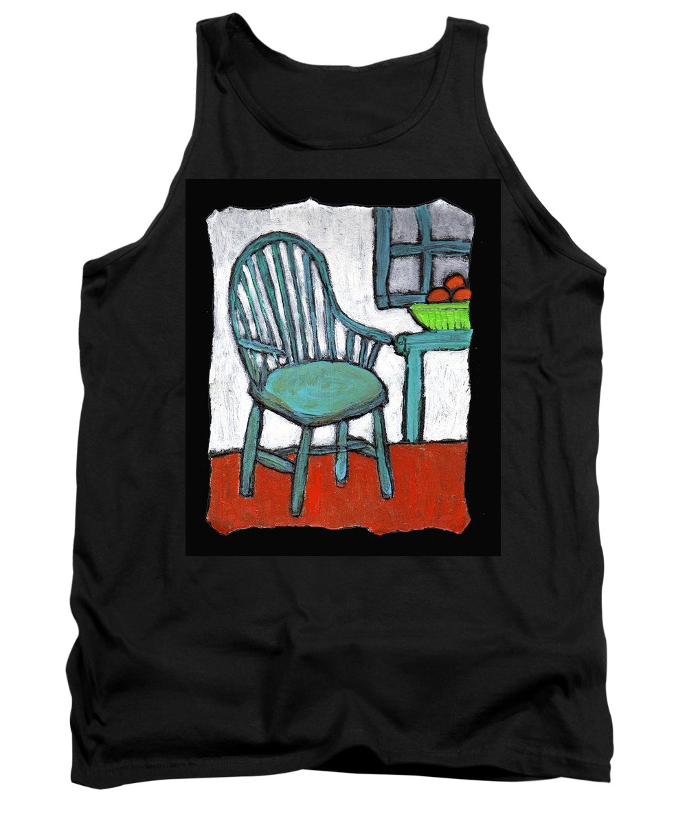 Chair Tank Top featuring the painting Grampa's Empty Chair by Wayne Potrafka