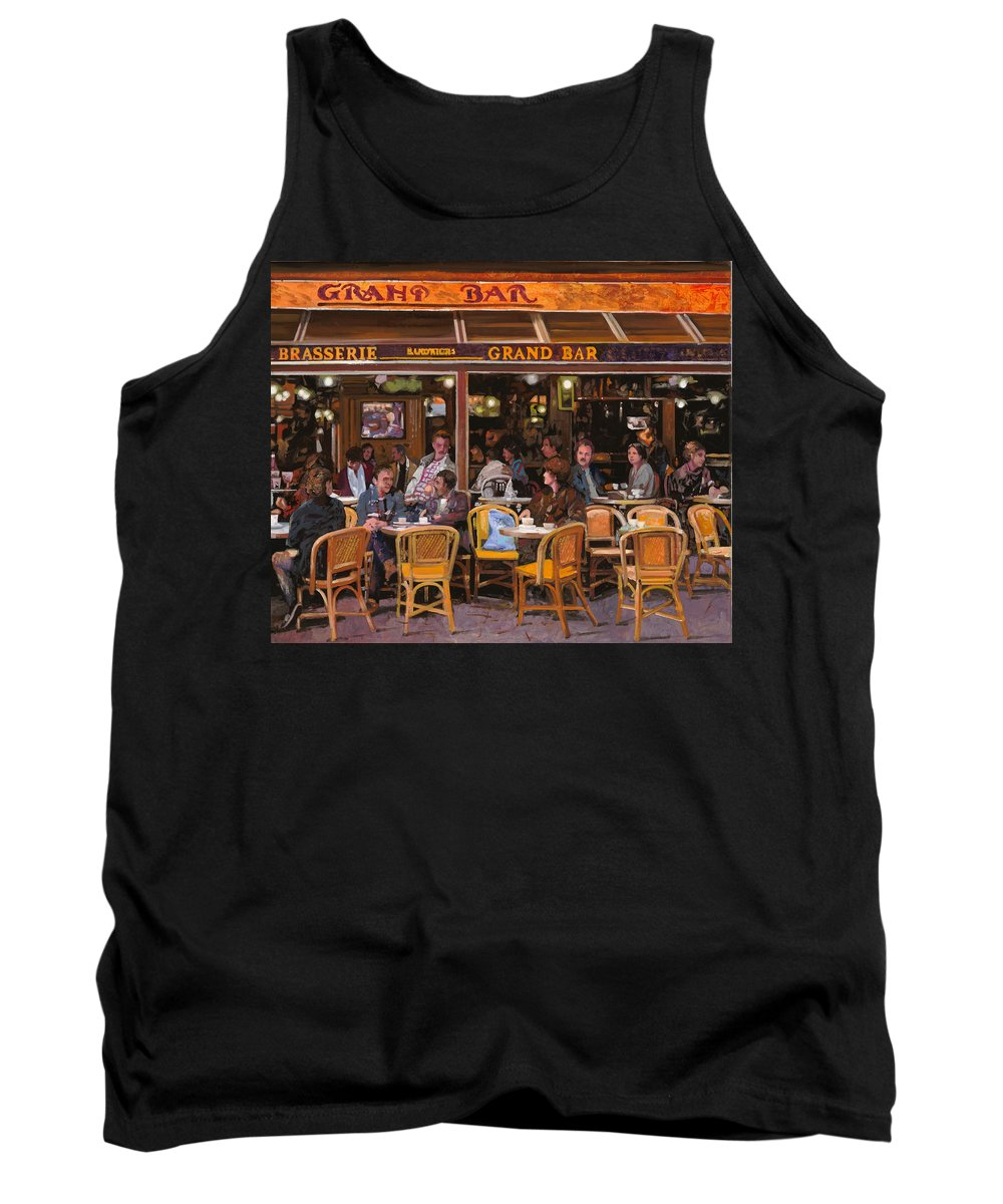 Brasserie Tank Top featuring the painting Grand Bar by Guido Borelli