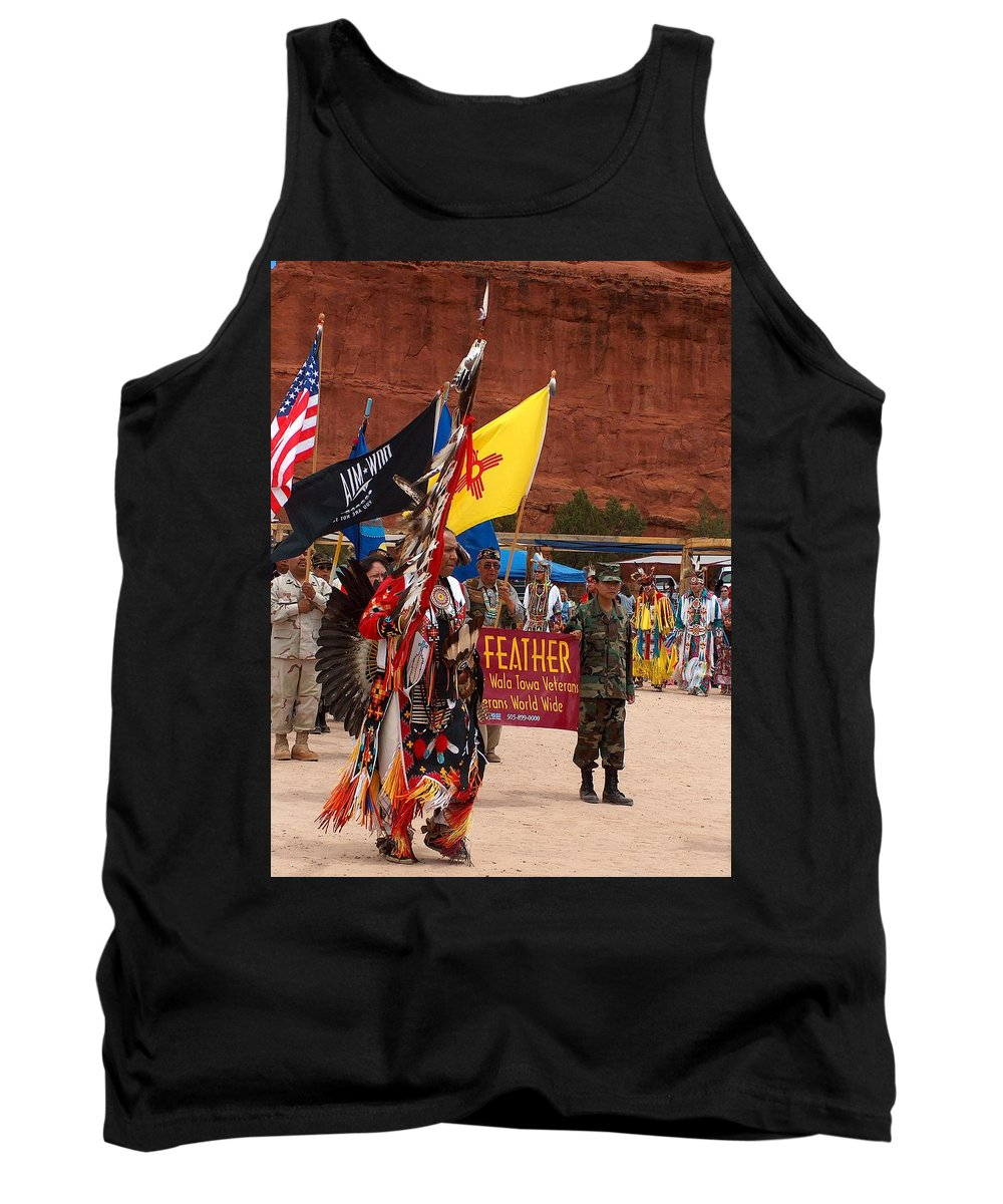 Pow-wow Tank Top featuring the photograph Grand Entry At Star Feather Pow-wow by Tim McCarthy