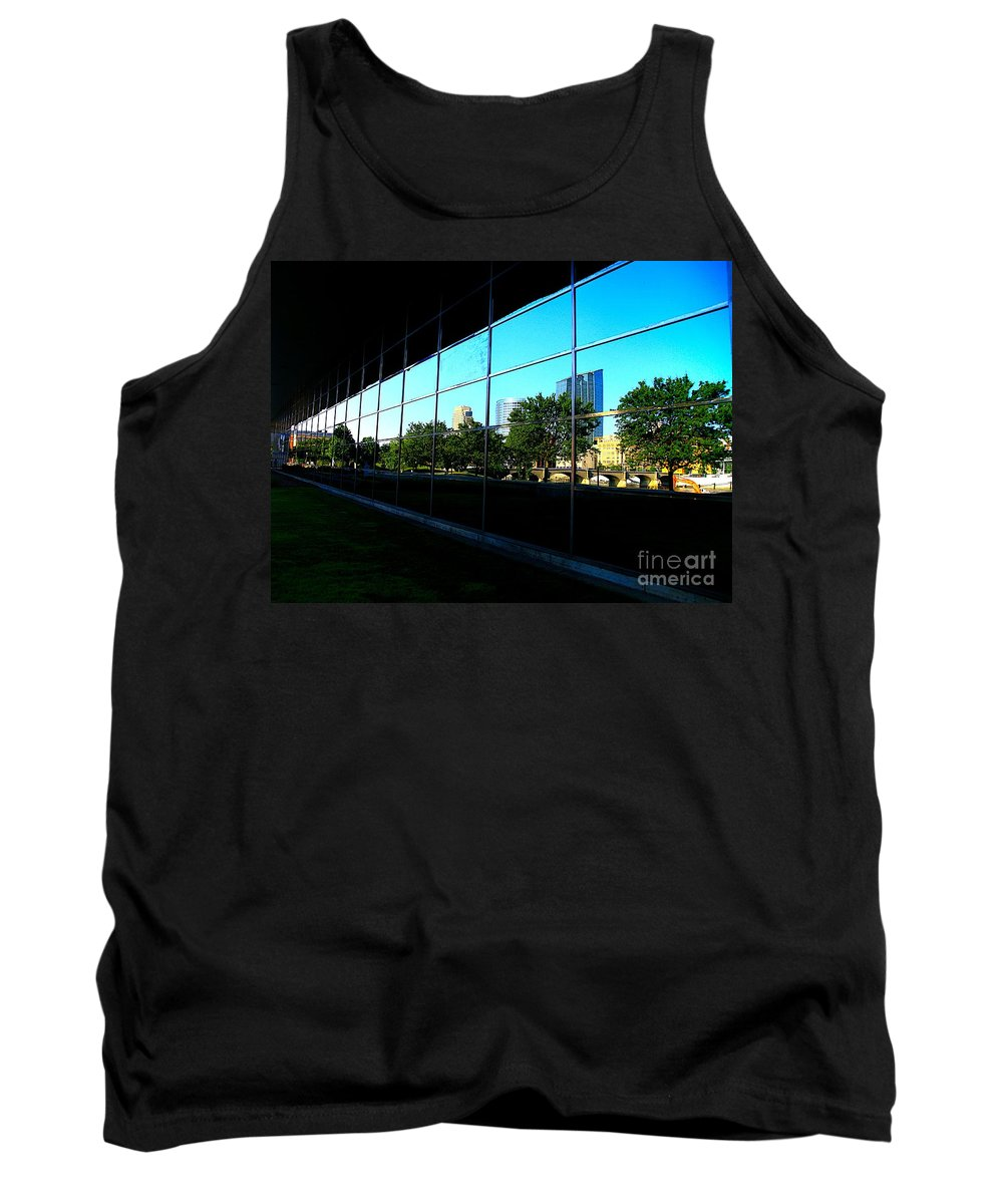 City Tank Top featuring the photograph Grand Rapids Mi On Glass-12 by Robert Pearson