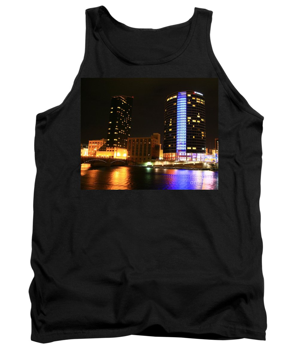 Grand Rapids Mi City Scapes Tank Top featuring the photograph Grand Rapids Mi Under The Lights-4 by Robert Pearson