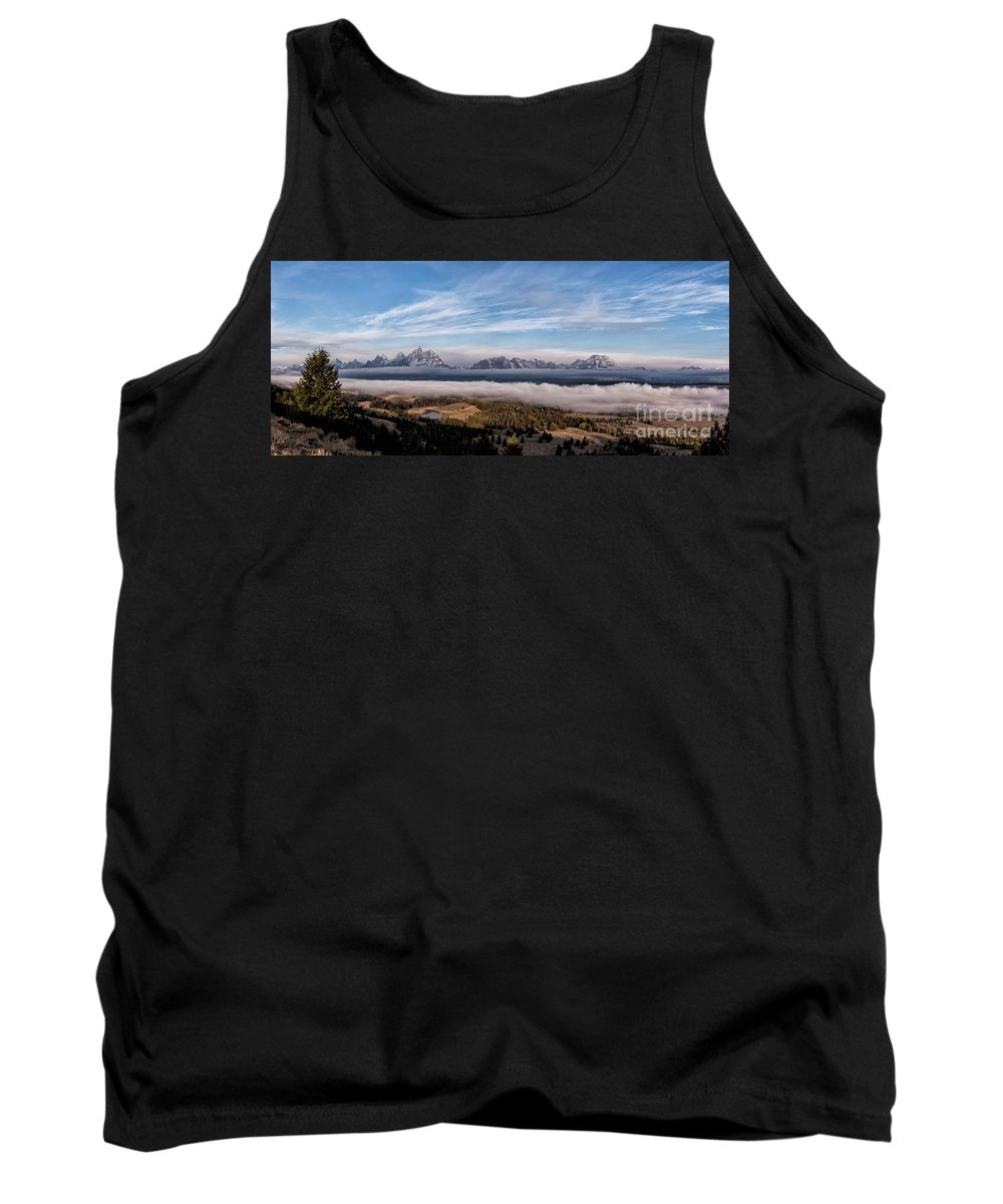 Tetons Tank Top featuring the photograph Grand Teton Mountain Range by Bret Barton