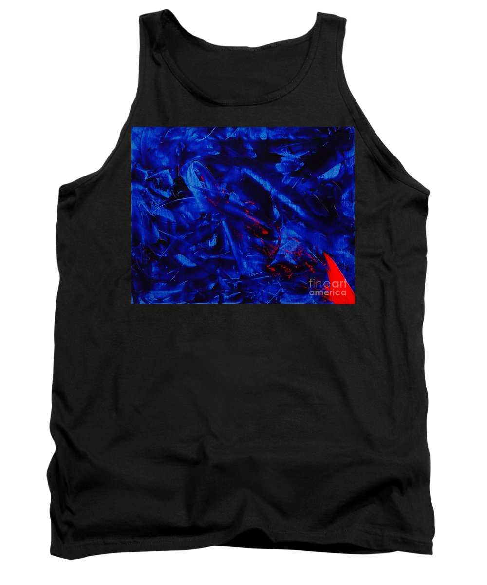 Abstract Tank Top featuring the painting Grandma IIi by Dean Triolo