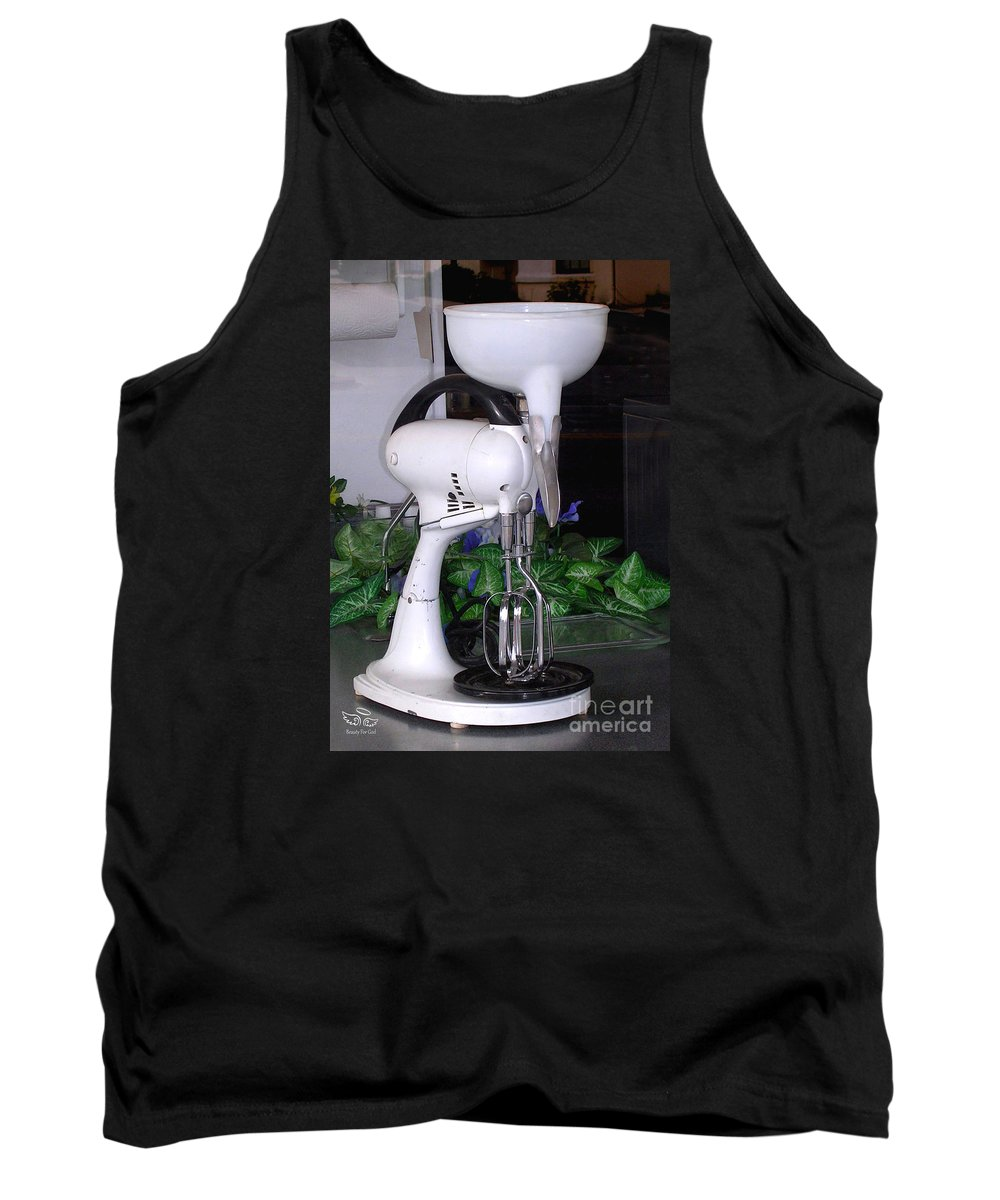 Antiques Tank Top featuring the photograph Grandma's Old Mixer by Beauty For God