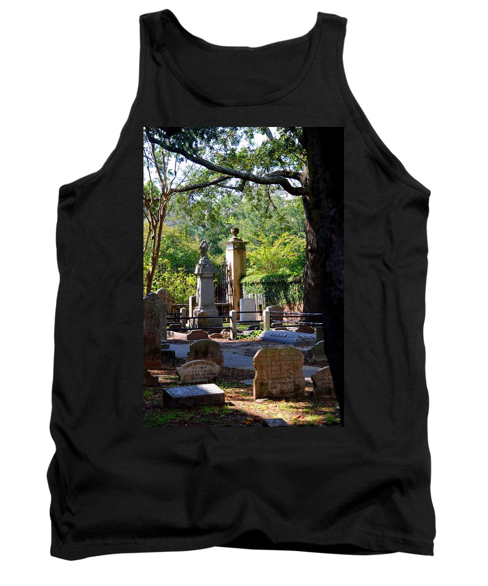 Photography Tank Top featuring the photograph Graveyard In Charleston by Susanne Van Hulst