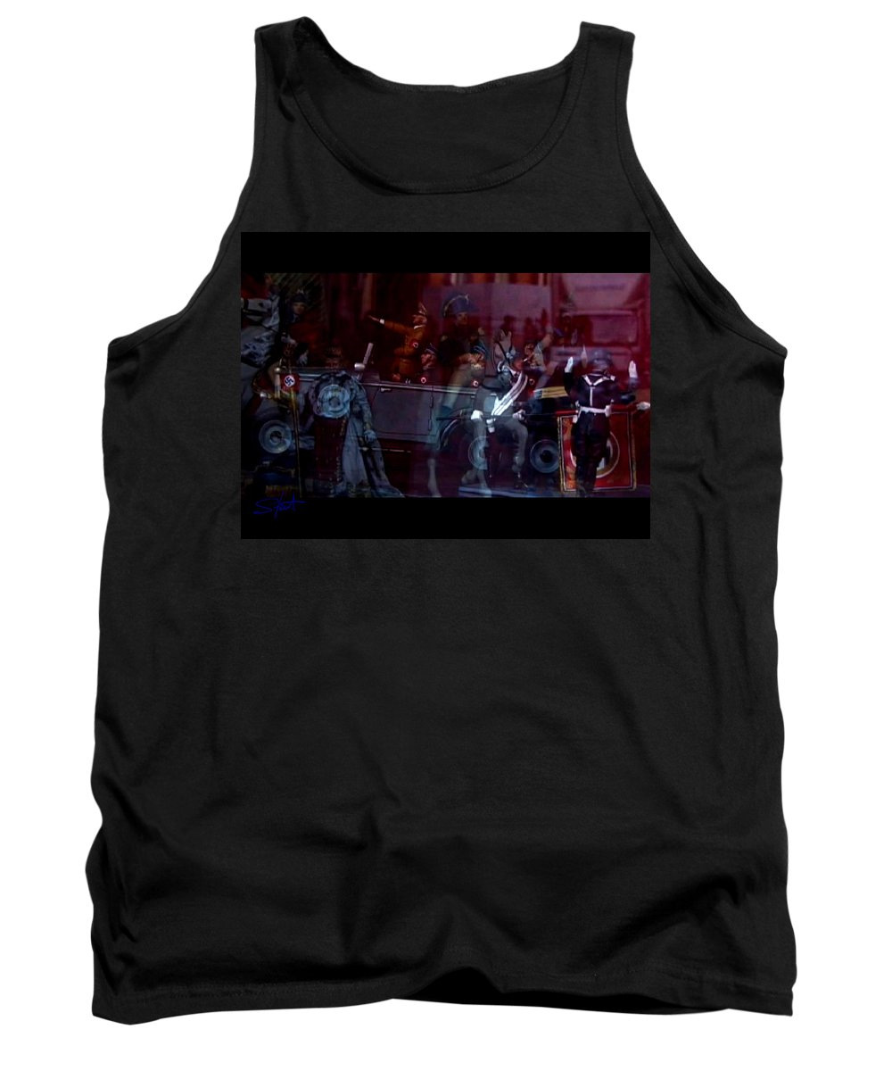 Dream Tank Top featuring the photograph Great Dictators As Tin Men by Charles Stuart