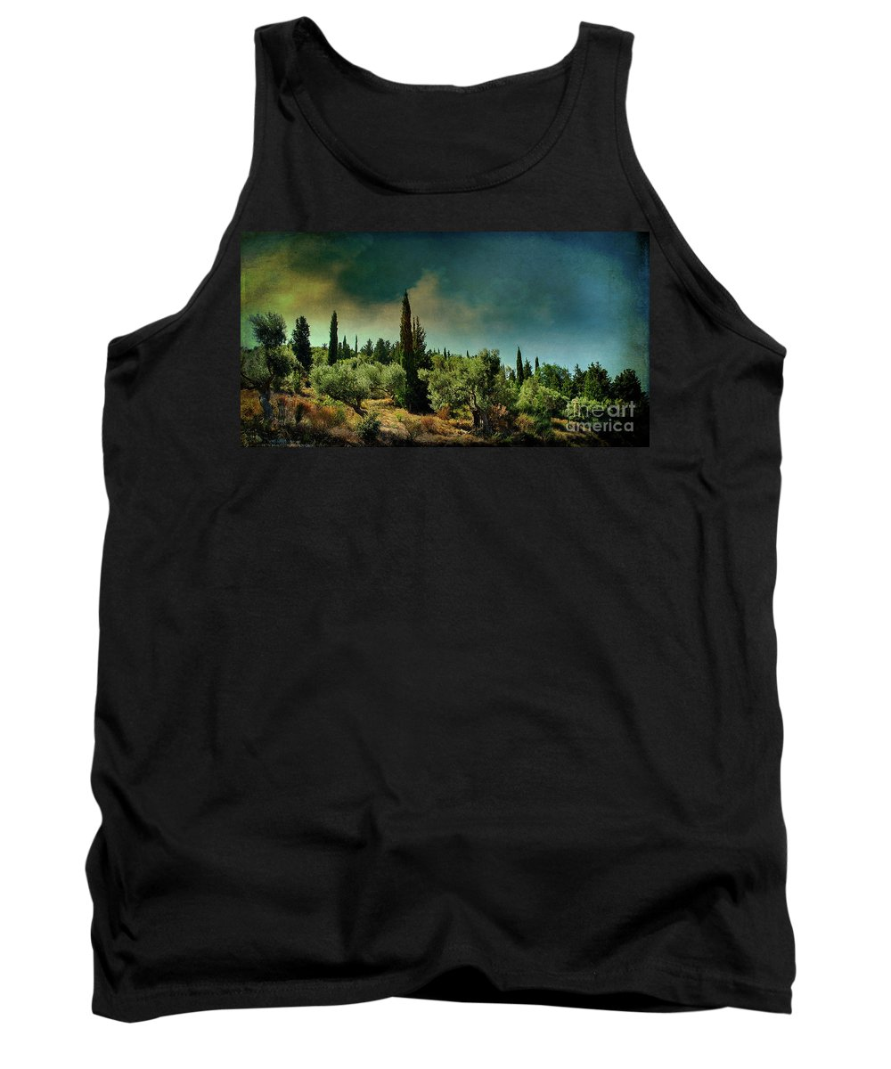 Greece Tank Top featuring the photograph Grecian Landscape by Remi D Photography
