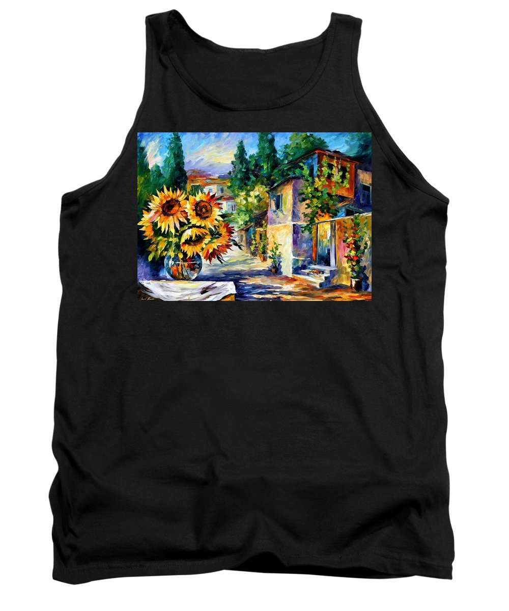 Afremov Tank Top featuring the painting Greek Noon by Leonid Afremov