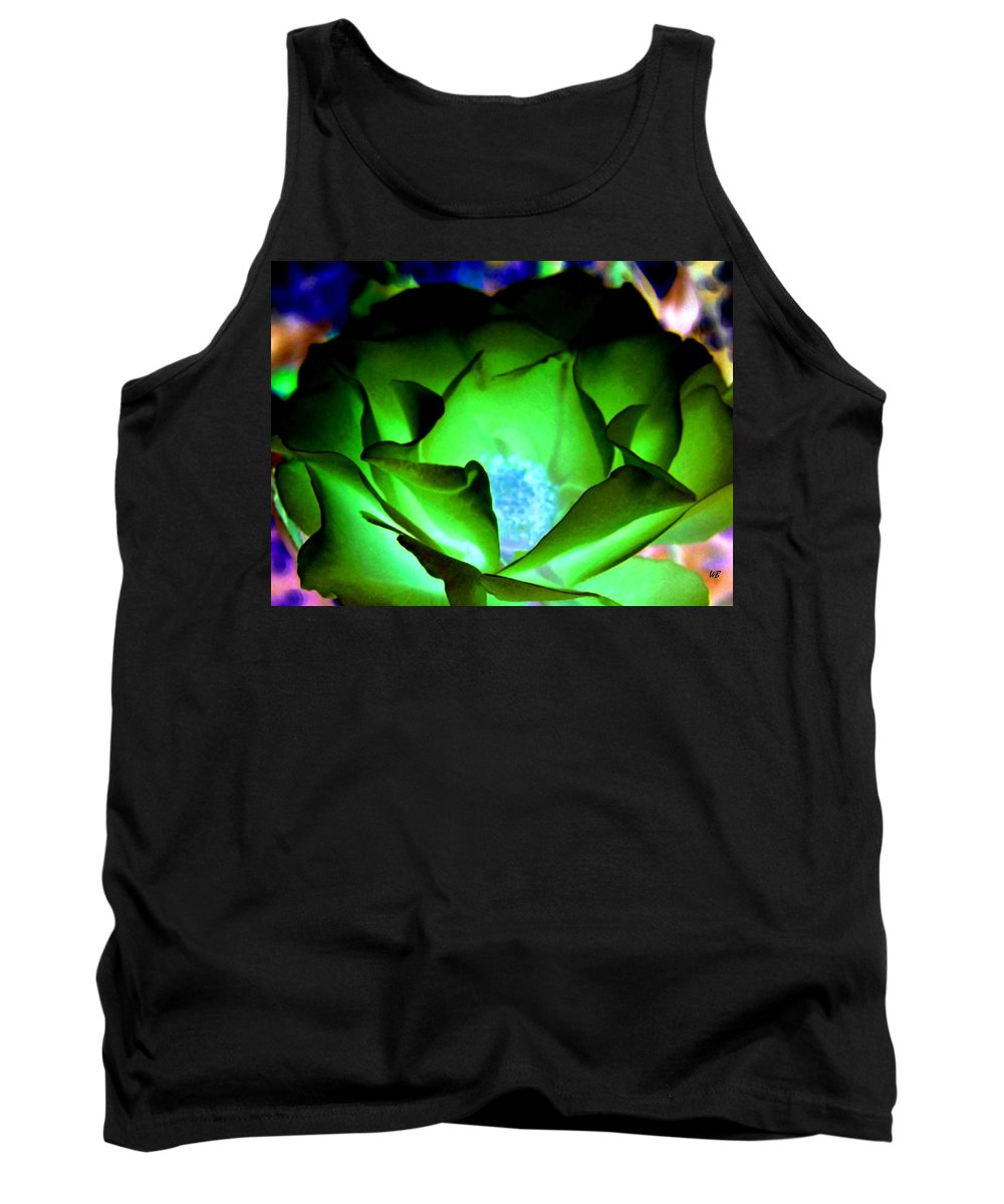 Rose Tank Top featuring the digital art Green Glow by Will Borden