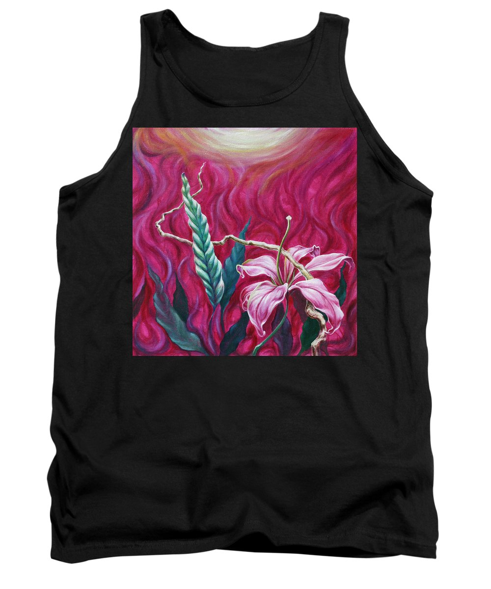 Tank Top featuring the painting Green Leaf by Jennifer McDuffie