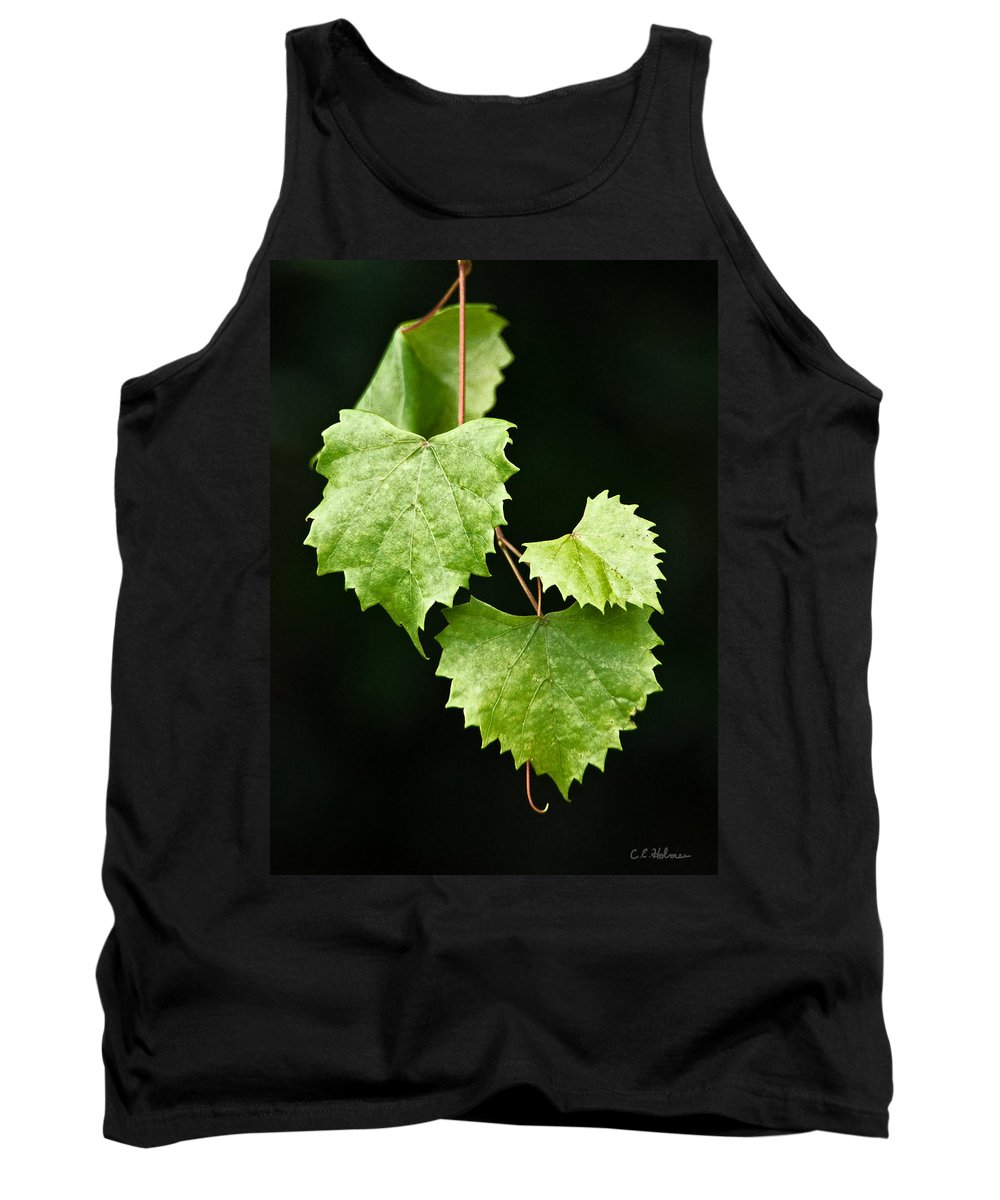 Flora Tank Top featuring the photograph Green Leaves by Christopher Holmes