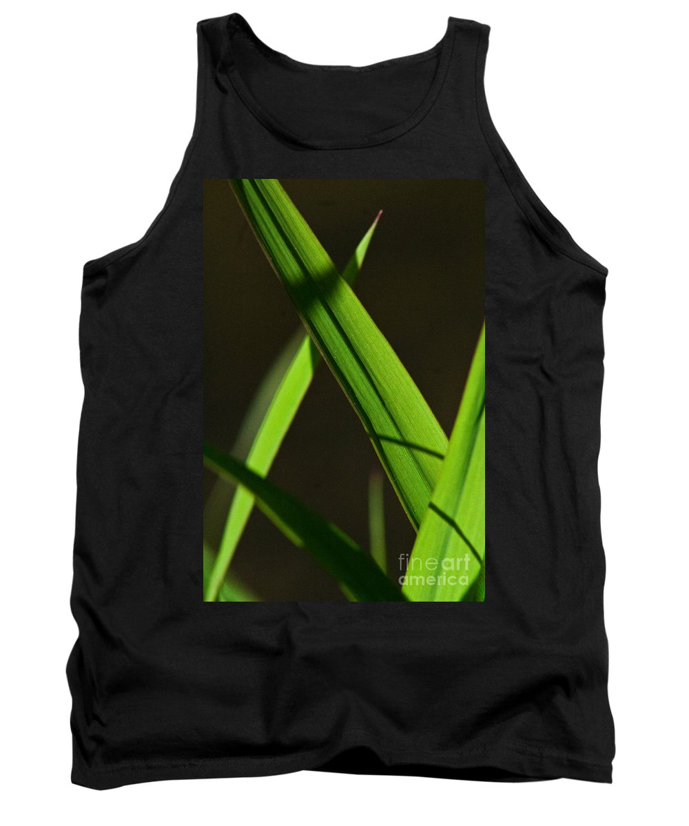 Green Tank Top featuring the photograph Green Leaves In Sunlight by Martha Johnson
