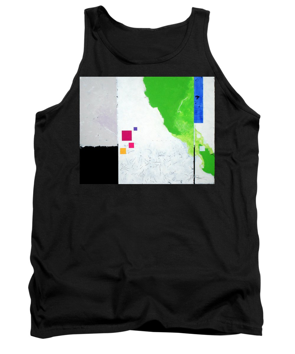 Abstract Tank Top featuring the painting Green Movement by Jean Pierre Rousselet