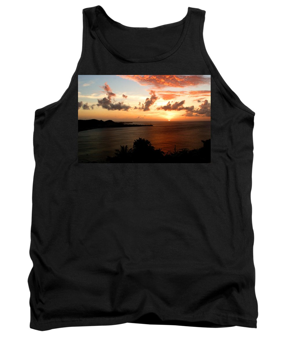 Sunset Tank Top featuring the photograph Grenadian Sunset II by Jean Macaluso