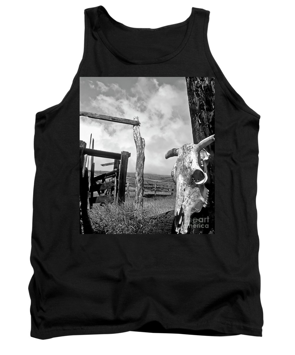 Black And White Tank Top featuring the photograph Guardian Spirit by Jim Cazel