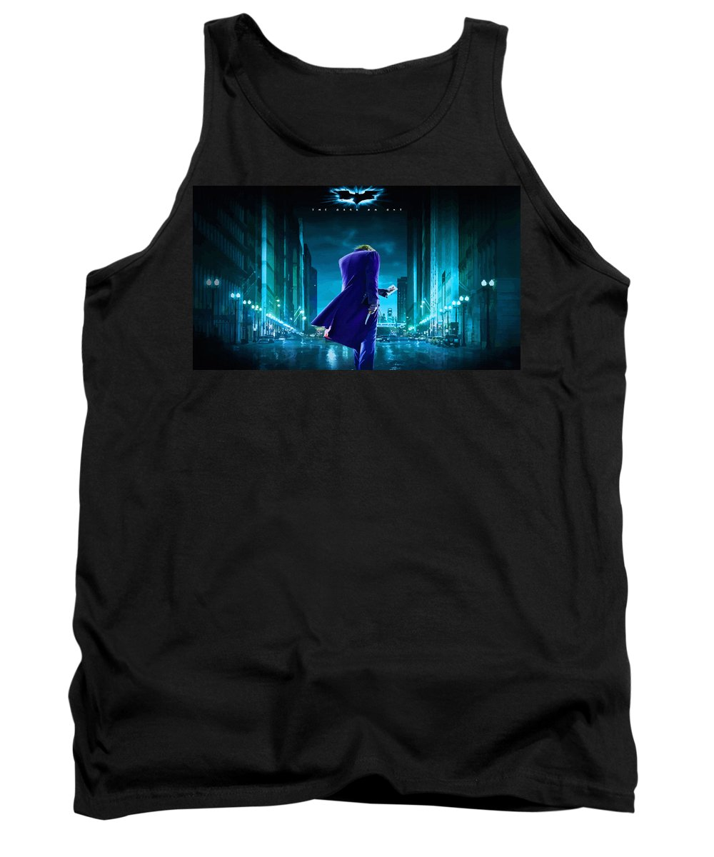 Comics Tank Top featuring the digital art Guess Who Is Coming To Town by Don Kuing
