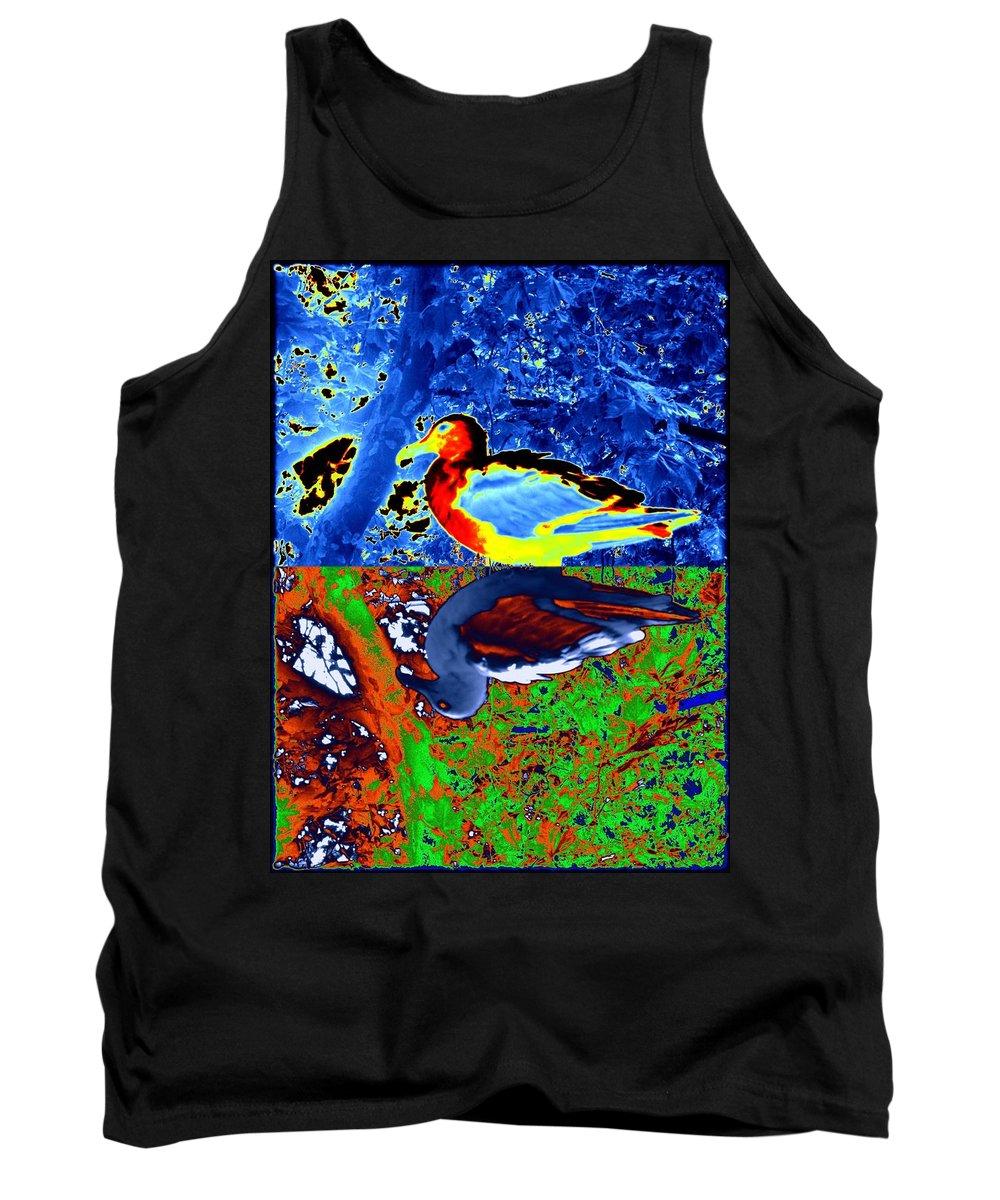 Seagull Tank Top featuring the digital art Gulls by Tim Allen