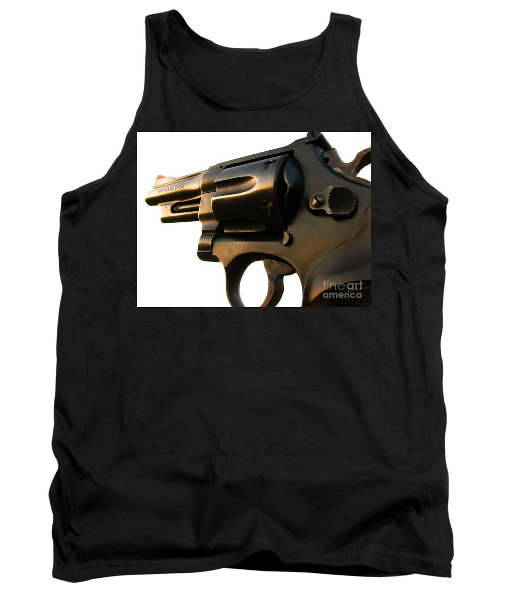 Gun Tank Top featuring the photograph Gun Series by Amanda Barcon