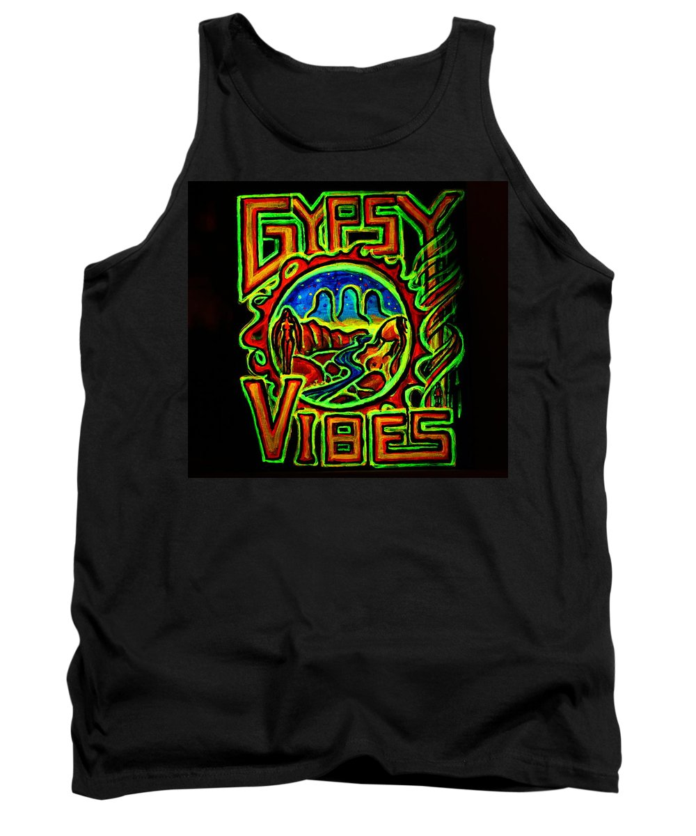 Gypsy Tank Top featuring the painting Gypsy Vibes by Gypsy Vibes
