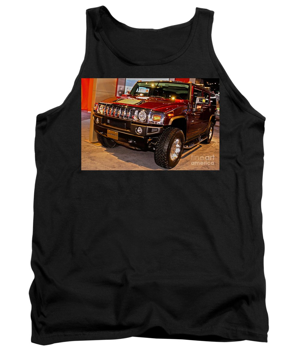 Automotive Tank Top featuring the photograph H2 Hummer by Alan Look
