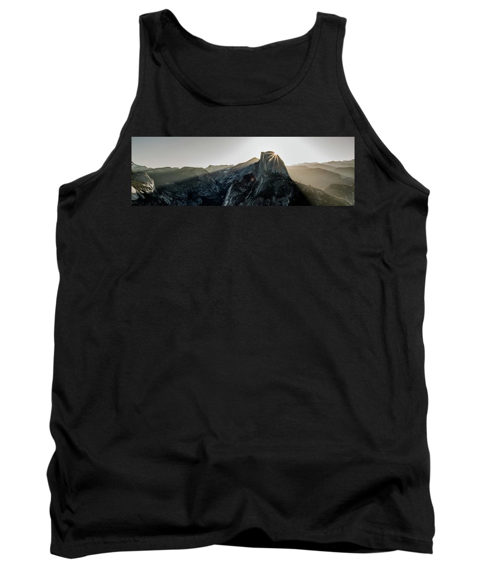 Glacier Tank Top featuring the photograph Half Dome From Glacier Point by Nick Borelli