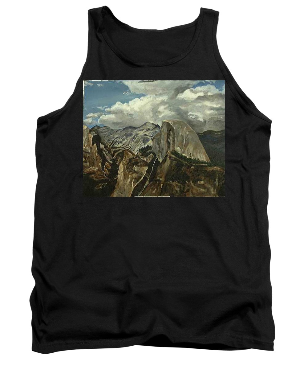 Tank Top featuring the painting Half Dome by Travis Day