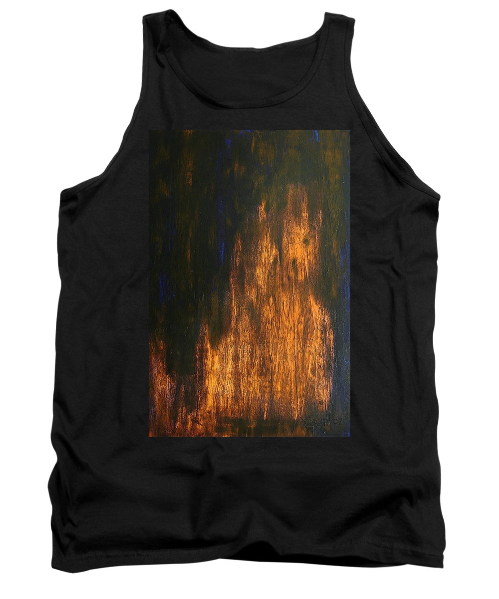 Mystery Tank Top featuring the painting Half-faced 2007 by RalphGM